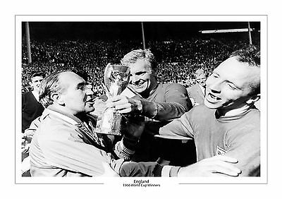 England Team Bobby Moore A4 Print Photo World Cup 1966 Trophy Wembley Alf Ramsey