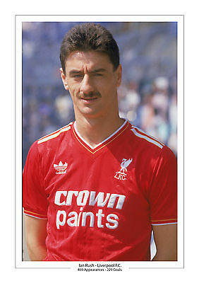 Ian Rush Career Stats Liverpool A4 Print Photo Gift For Him Anfield