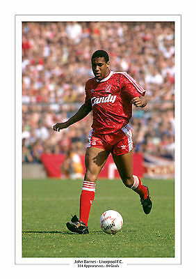 John Barnes Career Stats Liverpool A4 Print Photo Gift For Him Anfield 2