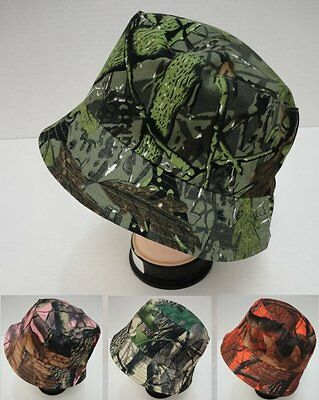 de66a4cd284 48 Lot Camouflage Hardwood Leafy Tree Camo Bucket Hats for Fishing   Hunting