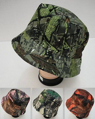 24 Lot Camouflage Hardwood Leafy Tree Camo Bucket Hats for Fishing   Hunting 0d0abe55f44