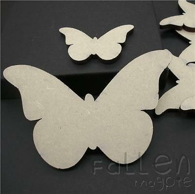 Wooden Butterfly Shapes Embellishments Craft Wood MDF Tags Blanks Various Sizes