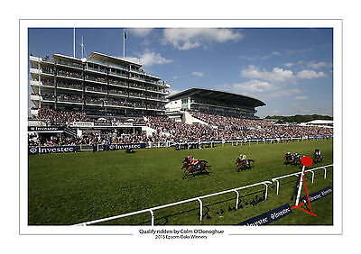 Qualify Colm O'donoghue 2015 Horse Racing A4 Print Photo Epsom Oaks