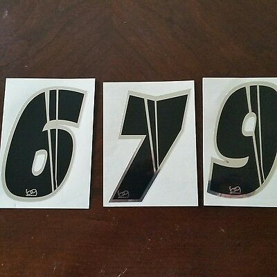 """Lizard Skins BMX Numberplate Number #9 4.5/"""" Foil  Free Shipping"""