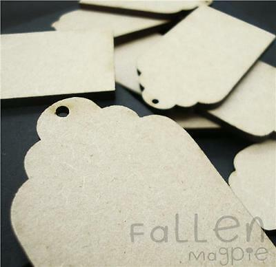 Wooden Gift Tag Shapes Embellishments Craft MDF Wood Blanks Various Sizes