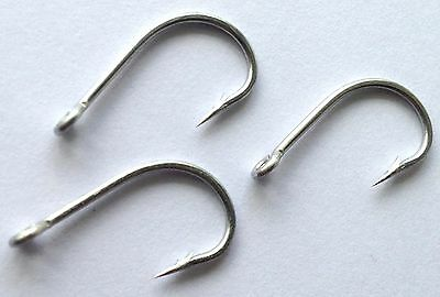 50) C68SS #2 STAINLESS Fly Tying Hooks - Sharp! SALTWATER (size 2)