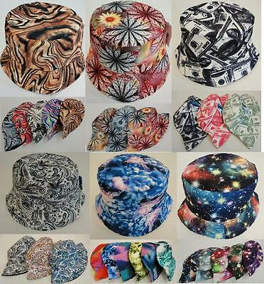 12 Pc Bucket Hat Wholesale Fishing Hats Money Floral Galaxy Tie Dye Paisley