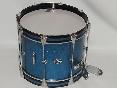 "Vintage Slingerland Blue Sparkle 14"" Tenor Drum Single Tension Niles Badge CLEAN"