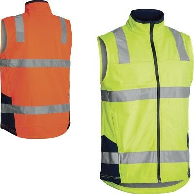 Bisley Workwear Taped Hi Vis Vest Soft Shell Vest Taped Hi Vis Vest (Bv0348T)