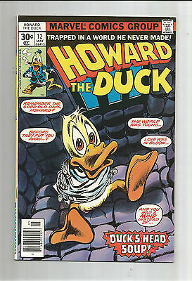 "HOWARD THE DUCK #12: Bronze Age Grade 9.4 Classic ""Duck's Head Soup""!!"