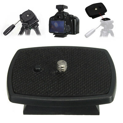 "Tripod Quick Release Plate w/ 1/4"" Screw Adapter Mount Head For DSLR SLR Camera"