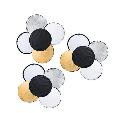 "24"" 60cm 5 in 1 Light Photography Studio Multi Disc Photo Collapsible Reflector"