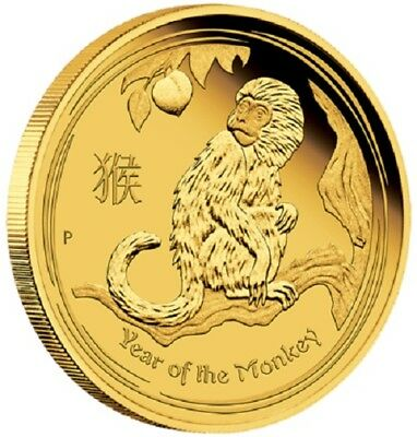 2016 $100 Australian Lunar Series-Year of the Monkey-1 oz Gold PR Coin- PM