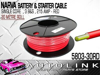 TWIN CORE BATTERY STARTER CABLE WIRE 6 B/&S 10M METRES 164.8A 6B/&S B S BS 12V 2