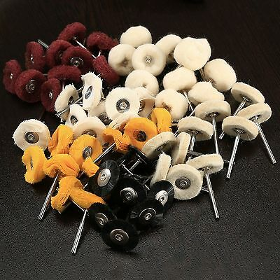 "Polishing Buffing Round Wheel Brushes Pads Mixed Set 1/8"" Shank Tool for Grinder"