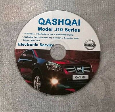 Nissan Qashqai J10 Series Manuale Officina Workshop Manual