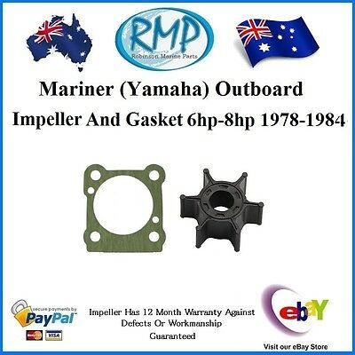 A Brand New Mariner (Yamaha) Impeller & Gasket 6hp-8hp 1978-1984 # R 47-11590M