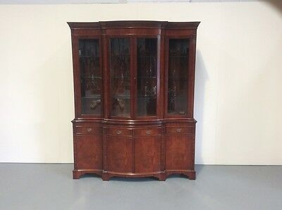 Regency Design Mahogany Display Cabinet Serpentine Front MannerOf Bevan & Funnel