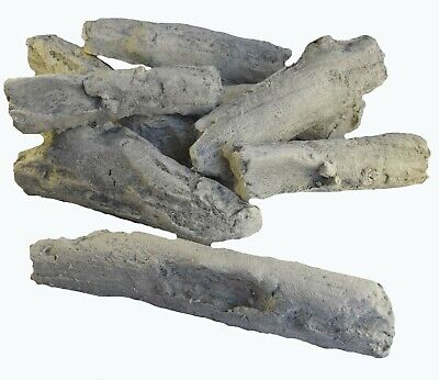 Gas Fire Replacement Driftwood Log Set 10 Free White Pebbles For Gas Coal Fires*