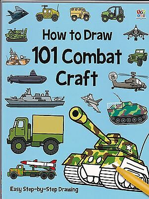 How to Draw 101 Combat Craft (Military Vehicles) (Paperback) New Book