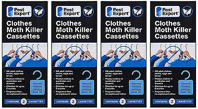 Pest Expert Clothes Moth Killer Cassettes Hanging Units (Twinpack) X4