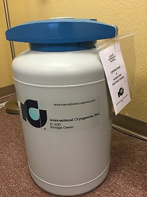 New 20 liter liquid nitrogen dewer with liquid nitrogen dispenser