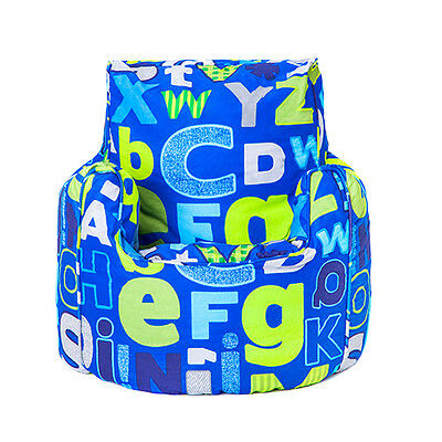 Children's Beanbag Chair Alphabet Boys Kids Bedroom Furniture Bean Bag Seat