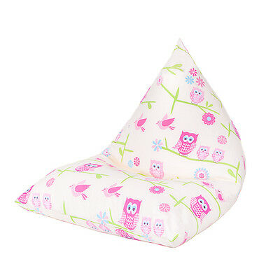 Owls Large Children's Kids Pyramid Bean Bag Chair Gaming Beanbag Gamer Girls