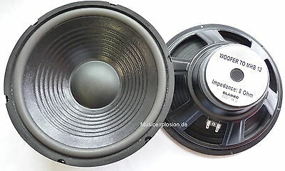 "2x MHB-12 30cm 12"" Bass Speaker PA Hifi 300mm Woofer Pair"