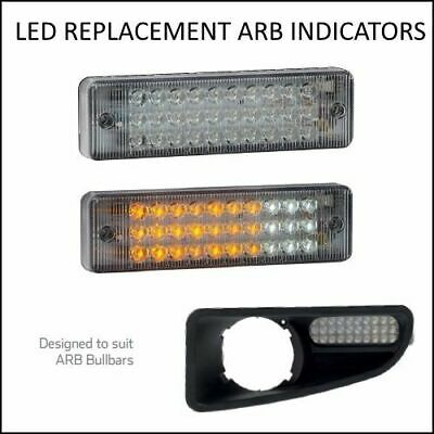 Pair Led Bullbar Front Indicator Lights Fits Most Arb Bull Bars Amber Light