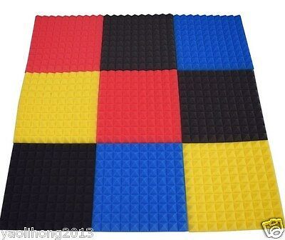"""2""""x20""""x20"""" Thick Acoustic Soundproof Sound Stop Absorption Pyramid Studio Foam"""