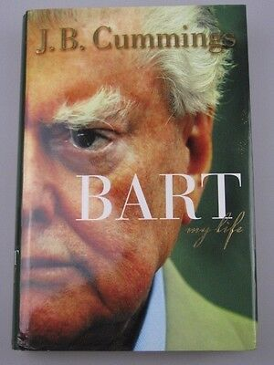 "BART CUMMINGS Hand Signed Auto Biography Book ""BART My Life"" 2"