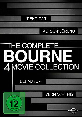 The Complete Bourne 4 Movie Collection 1+2+3+4 # 4-DVD-BOX-NEU