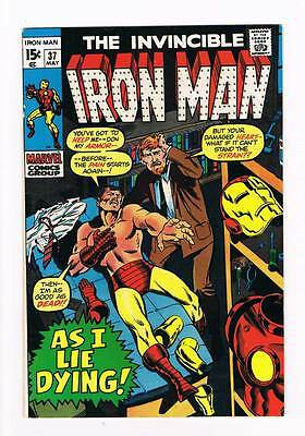 Iron Man # 37  As I Lie Dying ! grade 8.0 movie scarce hot book !!
