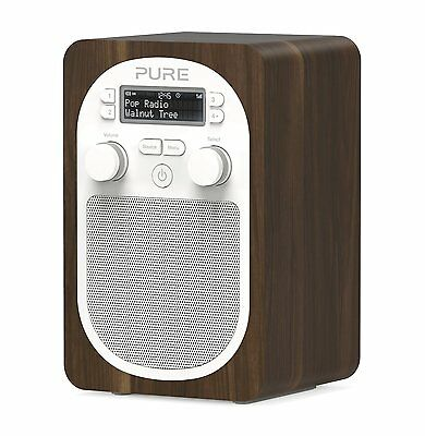 PURE Evoke D2 Digital DAB DAB+ FM Portable Radio Walnut