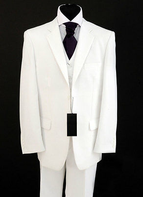 Mens Brilliant White Suit Sale Ideal For Weddings/proms/fancy Dress