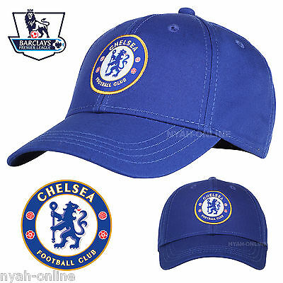 New Chelsea Fc Baseball Cap Official Blue Plain Logo Snapback Fitted Peak Hat