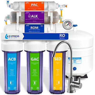 10 Stage Home Residential Alkaline Mineral  Reverse Osmosis System 100GPD MODERN