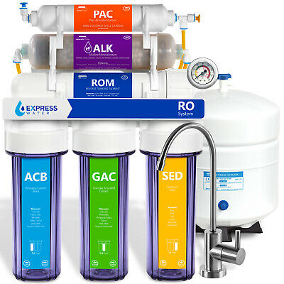 10 Stage Home Undersink Alkaline Reverse Osmosis RO Water Filter System 100 GPD