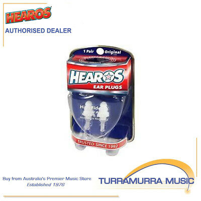 Hearos HS211 High Fidelity Reusable Washable Ear Plugs with Case Noise Reduction