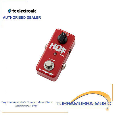 TC Electronic Hall Of Fame Mini Reverb Mini Guitar Effects FX Pedal - HOF