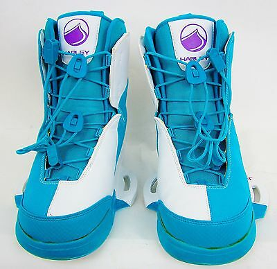Liquid Force Harley Mens Wakeboard Boots - Wht/turquoise - Size:11-12 – New!!!