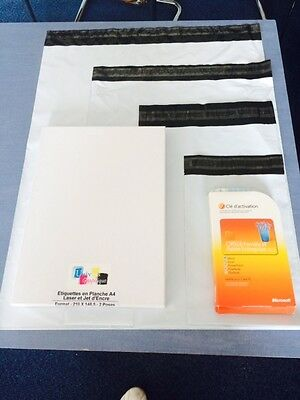 1000 enveloppes plastiques blanches opaques format standard A5 A4 A3 A3++