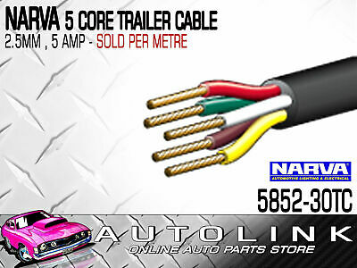 Narva Single Core Cable 2.5mm 7M 5 Amp Red 7 Meter 5812-7RD