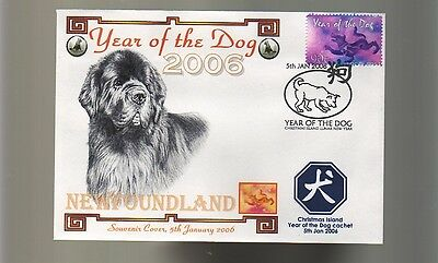 NEWFOUNDLAND 2006 YEAR OF THE DOG SOUV COVER 1