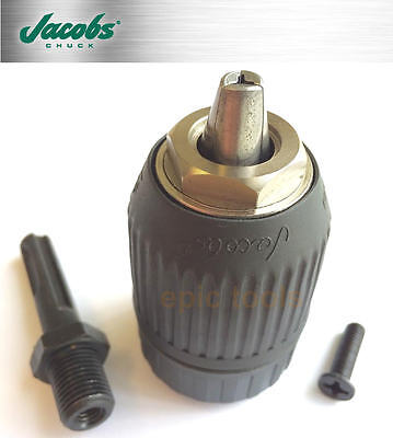 "JACOBS 13mm (1/2"") Keyless Chuck With Nylon Outer & SDS + Drill Adapter, PPSDSNB"