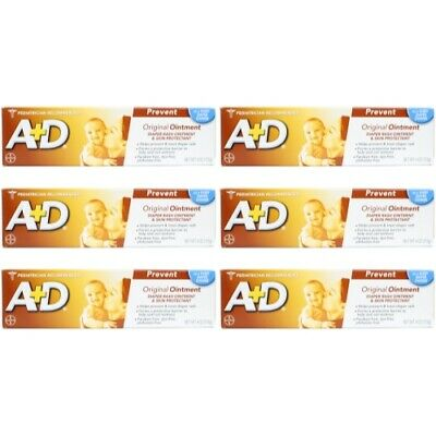 A + D Original Ointment, Diaper Rash & Skin Protectant - 4 oz tube (Pack of 6)