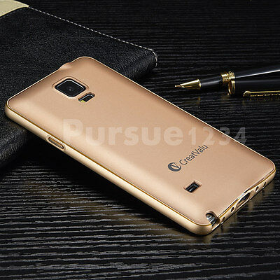 Ultra-thin Aluminum Metal Bumper PC Back Case Cover For Samsung