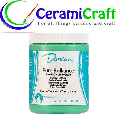 Duncan Pure Brilliance Clear Glaze 118ml, Ceramic, Pottery, Paint
