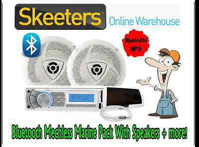Bluetooth XXXMarine Mechless Audio Pack, Boat Stereo MP3 player, Speakers+ MA4BP